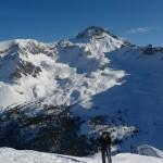 Arpelin - Ski - Sur fond de Rochebrune