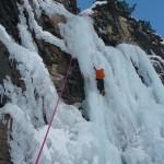 Cervières - Cascade de glace - La cascade du Bourget