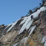 Cervières - Cascade de glace - Et un petit surplomb