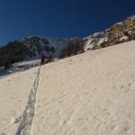 Vallon des Ayes - Petit Puy - Traçage dans les pentes sous le Petit Puy