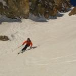 Petit Puy - Couloir Sud - Sylvain envoie la courbe