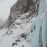 Cascade de glace à Crévoux - Un petit grade 5