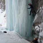 Cascade de glace à Crévoux - Le bel itinéraire mixte