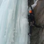 Cascade de glace à Crévoux - Réta acrobatique