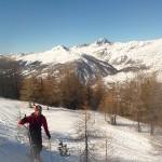 Ski - Col de la Lauze - Le Rochebrune pointe son nez