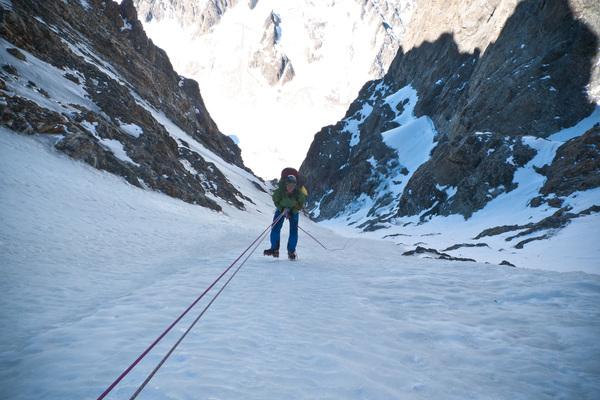 Pic sans Nom - Cambon Francou - Couloir NW, pas skiable...