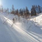 Hors piste Serre Chevalier - Dans le bas du Vallon des Corneilles