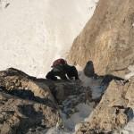 Hors piste Serre Chevalier - Court pas d'escalade pour skier le Jackson