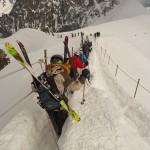 Vallée Blanche - Descente de l'arête de l'Aiguille du Midi