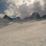 Vallée Blanche - Sous le Rognon, avec la Tour Ronde en fond