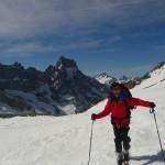 Promontoire - Devant l'Aiguille du Plat de la Selle