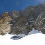 Traversée des ailefroides et retour - la face vu des skis