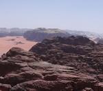 Traversée Jebel Rum - Les premières vues