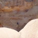 Traversée Jebel Rum - Le passage pour franchir le 2ème grand Siq