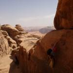 Traversée Jebel Rum - Désescalade