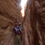 Traversée Jebel Rum - Canyon étroit comme promis