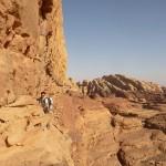 Traversée Jebel Rum - Vire à ibex, facile mais expo comme il se doit