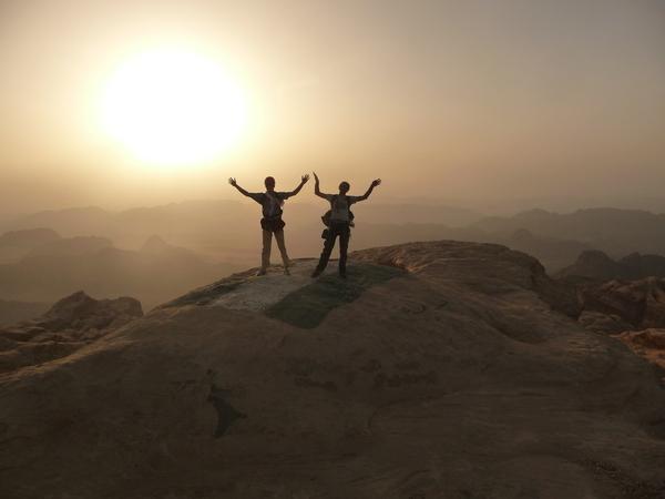 Traversée S-N du Jebel Rum – Jour 1