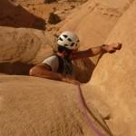 Traversée Jebel Rum - La fameuse prise taillée!