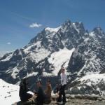 Ecole de glace - sur la terrasse du refuge du Glacier blanc