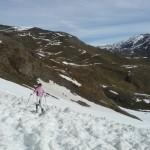 Col de Péas - Traversée d'une vieille avalanche