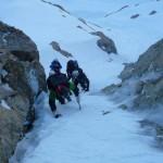 Pic d'Arsine - Petit couloir en neige