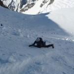 Pic d'Arsine - Un peu d'entraînement à la chute en neige