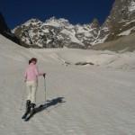 Ski Glacier noir - Le front du Glacier
