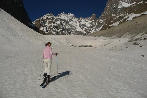 Glacier Noir à ski
