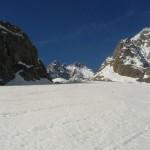 Ski Glacier noir - Sur le haut de la première branche du Glacier