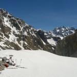 Ski Glacier noir - Pause au dessus du verrou