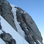 Eiger - Voie Heckmair - Le boyau de glace