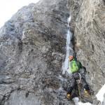 Eiger - Voie Heckmair - Longueur clé de la rampe