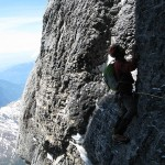 Eiger - Voie Heckmair - Fissures de sorties