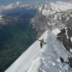 Eiger - L'arête neigeuse