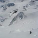 Piz Bernina - Juste avant de déclencher la première plaque
