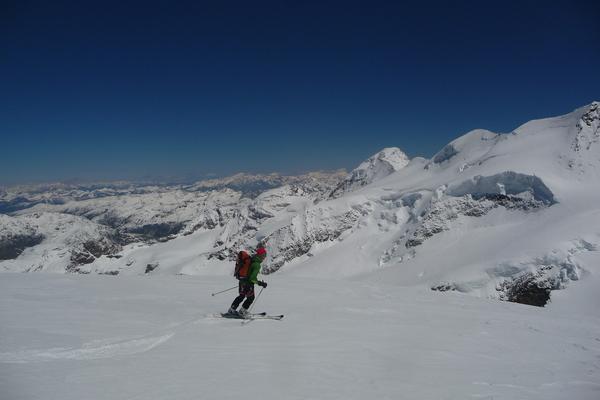 Piz Bernina à ski