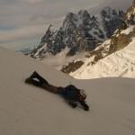 Pic d'Arsine - Alpiniste en lutte