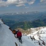 Mont Blanc - Voie normale - Nous trouvons rapidemment la neige