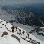Mont Blanc - Voie normale - Peu après le couloir de la mort