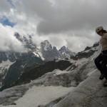 Ecole de glace - Victoria devant un Pelvoux timide