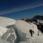 Dôme des Ecrins - Passage du pont de neige
