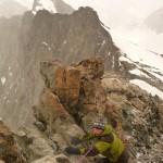 Roche Faurio - Sur l'arête sommitale