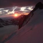 Dôme des Ecrins - un levé de soleil de toute beauté