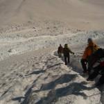 Dôme des Ecrins - Le raidillon à la descente