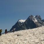 Ecole de glace - Glacier encore enneigé, corde tendue de rigueur!