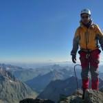 Roche Faurio - Mathieu et le Mont Blanc