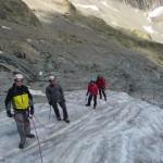 Ecole de glace - En route sur l'éperon de glace