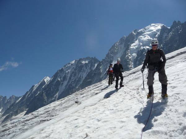 Initiation vers le glacier d'Argentiere