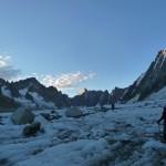Glacier d'Argentière - Les premières lueurs du jour